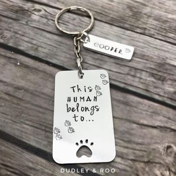 This Human Belongs To....Keyring (Dog - Generic)