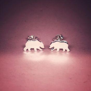 Bear Stud Earrings