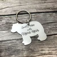 Don't Mess With Mama Bear Keyring