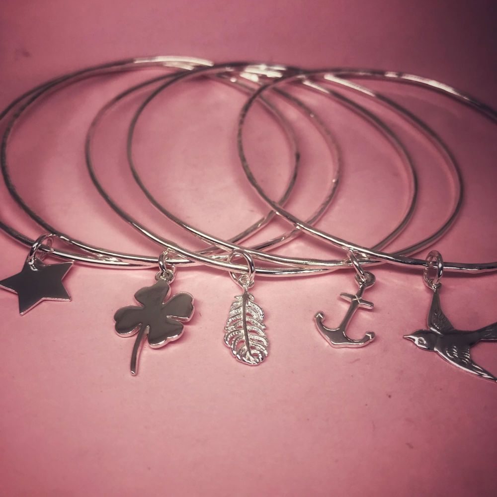 Silver Stack Bangle - Skinny (prices from)