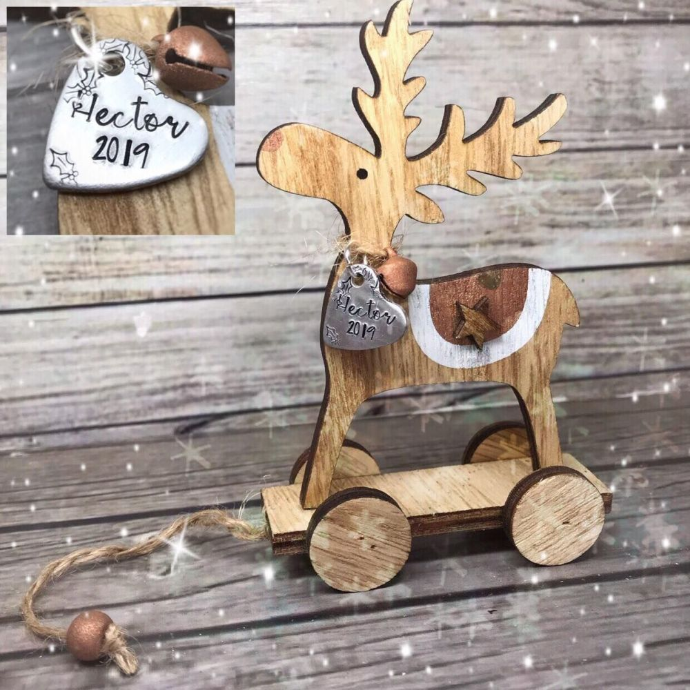 Wooden Freestanding Reindeer Decoration