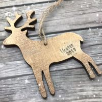 Reindeer Decoration | Wooden Hanging