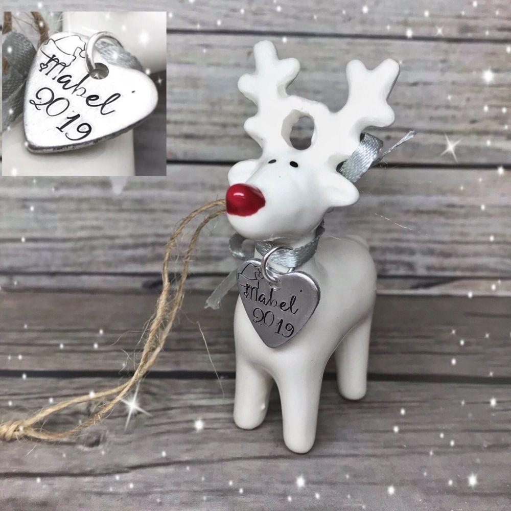 White Reindeer Decoration
