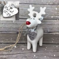 White Reindeer Decoration