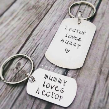 'Loves Me' Keyring Set