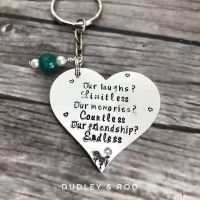 Friendship Quote Keyring