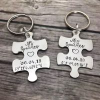 Wedding Jigsaw/Puzzle Piece Keyrings