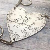 Heart Jigsaw Keyring (3 piece)