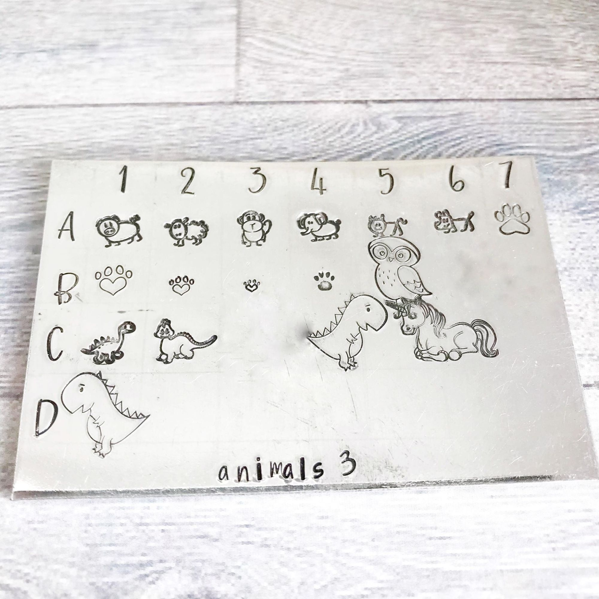 Animal metal design stamps