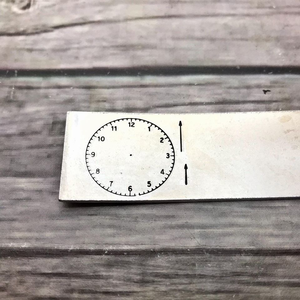 Clock Face Metal Design Stamp