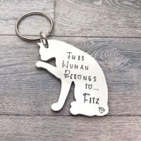 This Human Belongs To....Keyring (Cat)