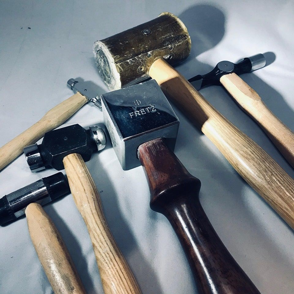 Selection of jeweller's hammers