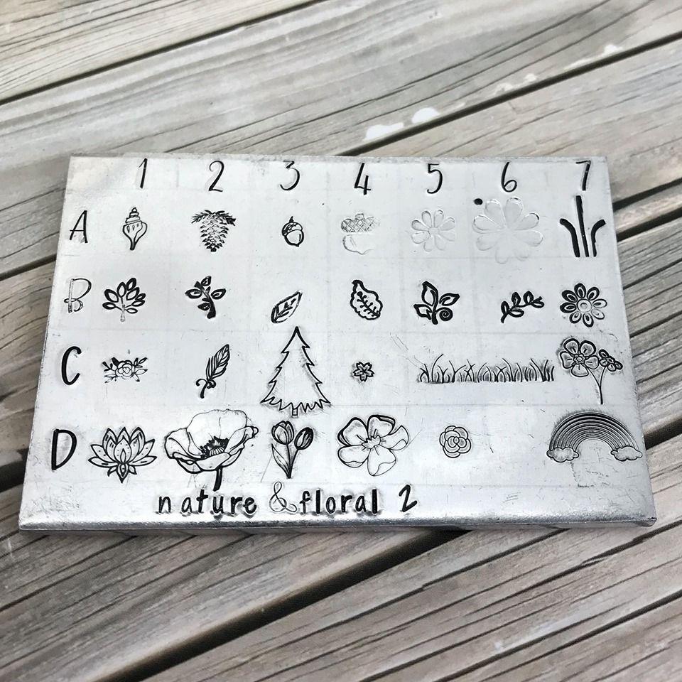 Nature & Floral metal design stamps