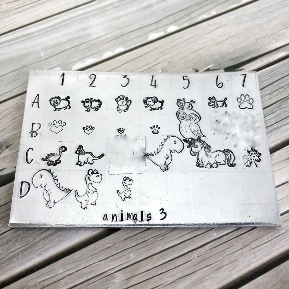 Animal metal design stamps