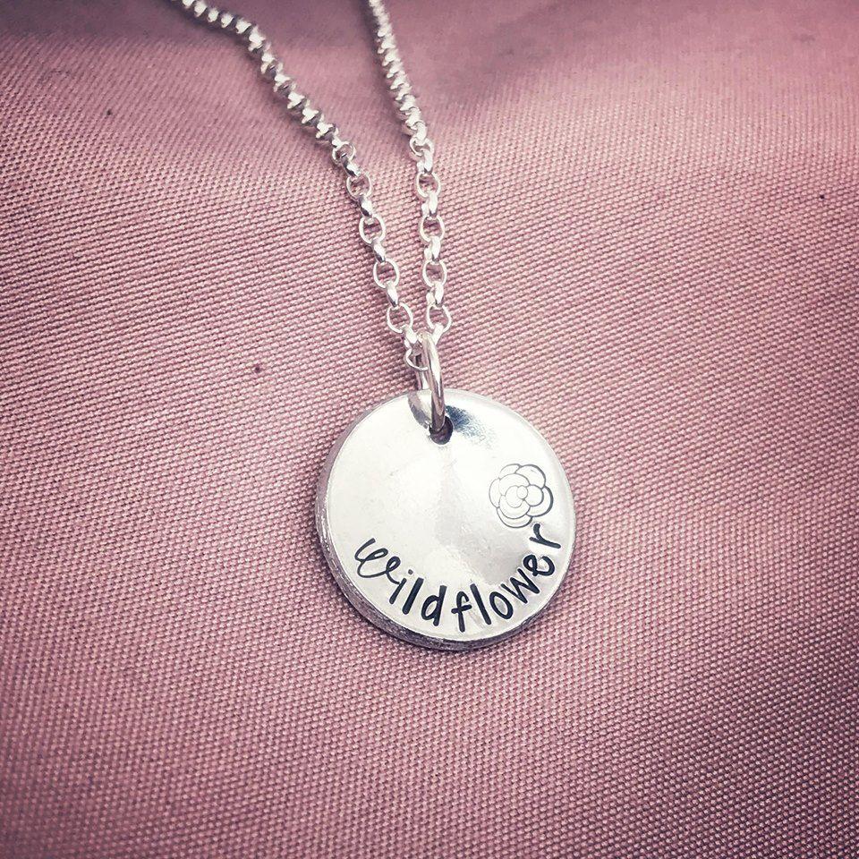 Silver Disc Necklace | Midi