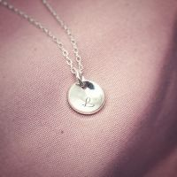 Silver Disc Necklace | Mini Moon | Celestial Collection
