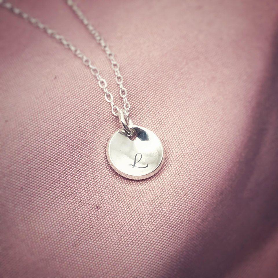 Silver Disc Necklace | Mini