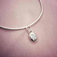 Silver Pebble Bangle | Midi | Pebble Collection