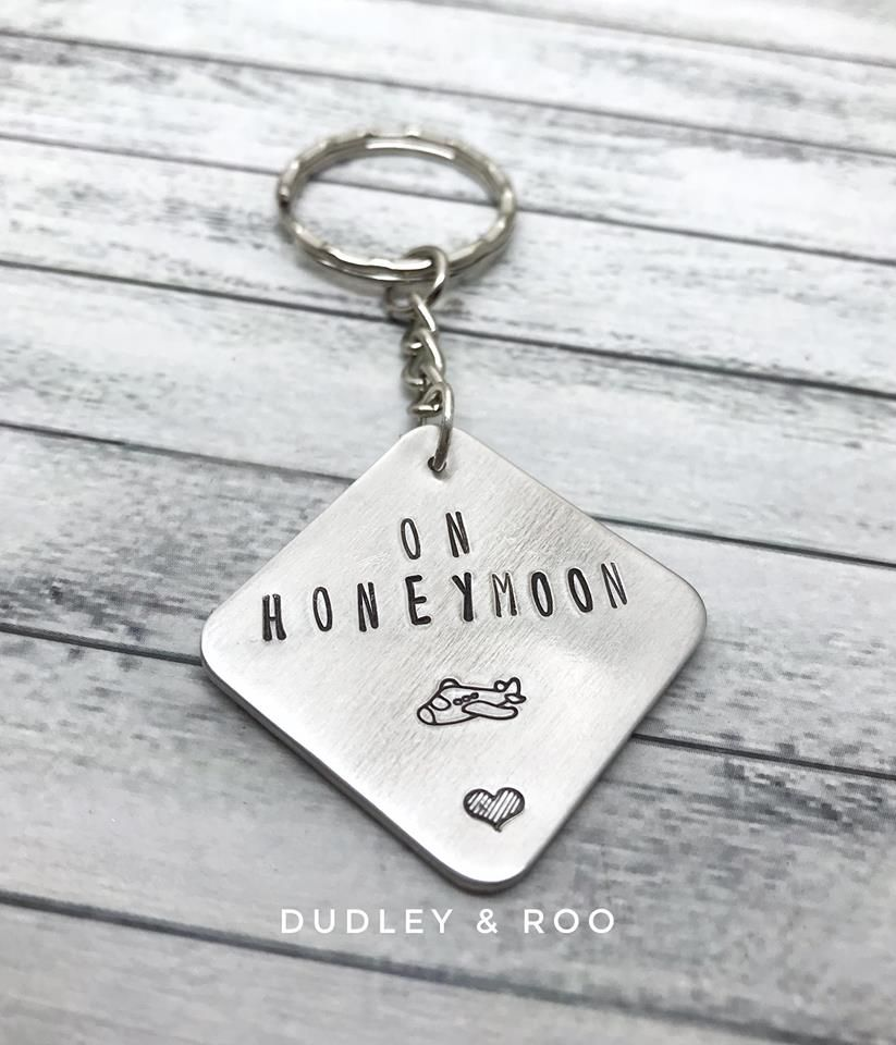 On Honeymoon Keyring