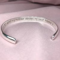 Silver Half Rounded Cuff