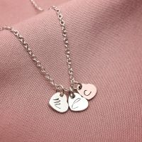Silver Personalised Dainty Heart Necklace