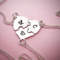 Sterling Silver Heart Jigsaw Necklace