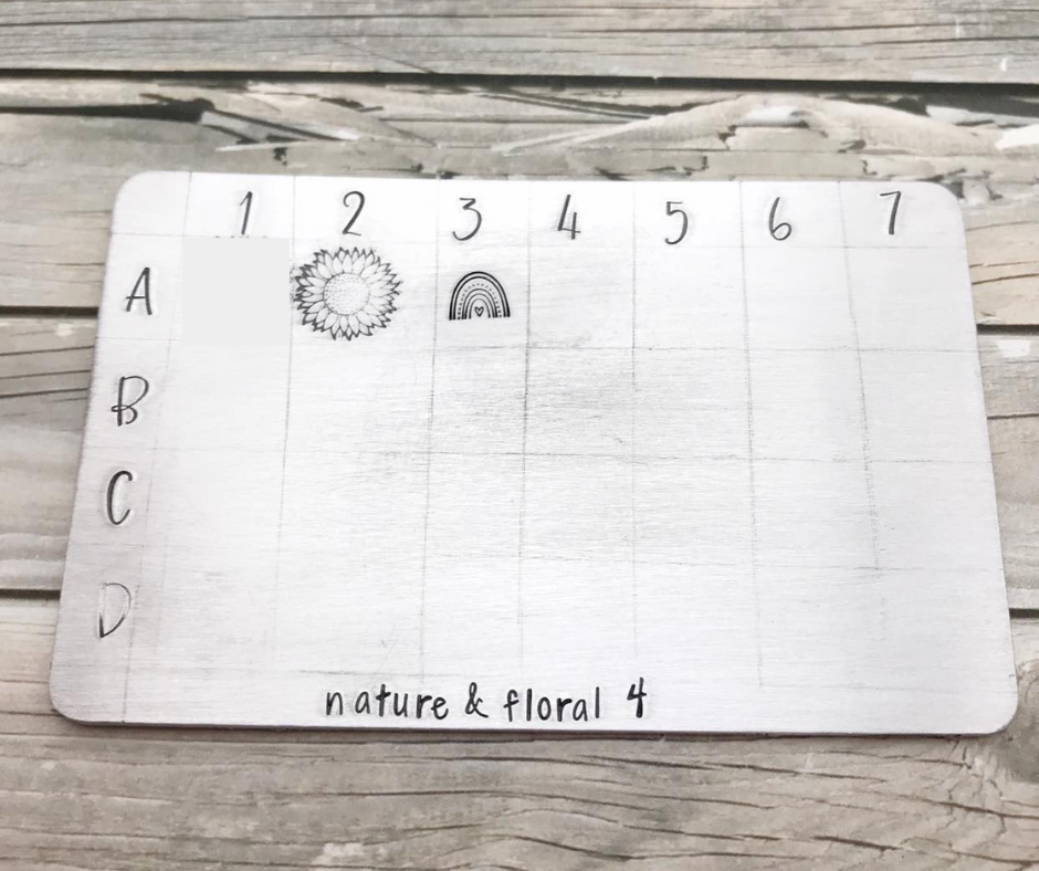 Nature and floral design stamps