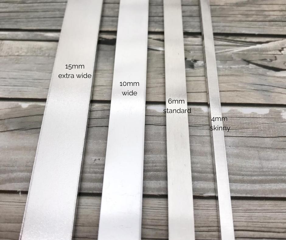 4 different widths of cuff bracelet