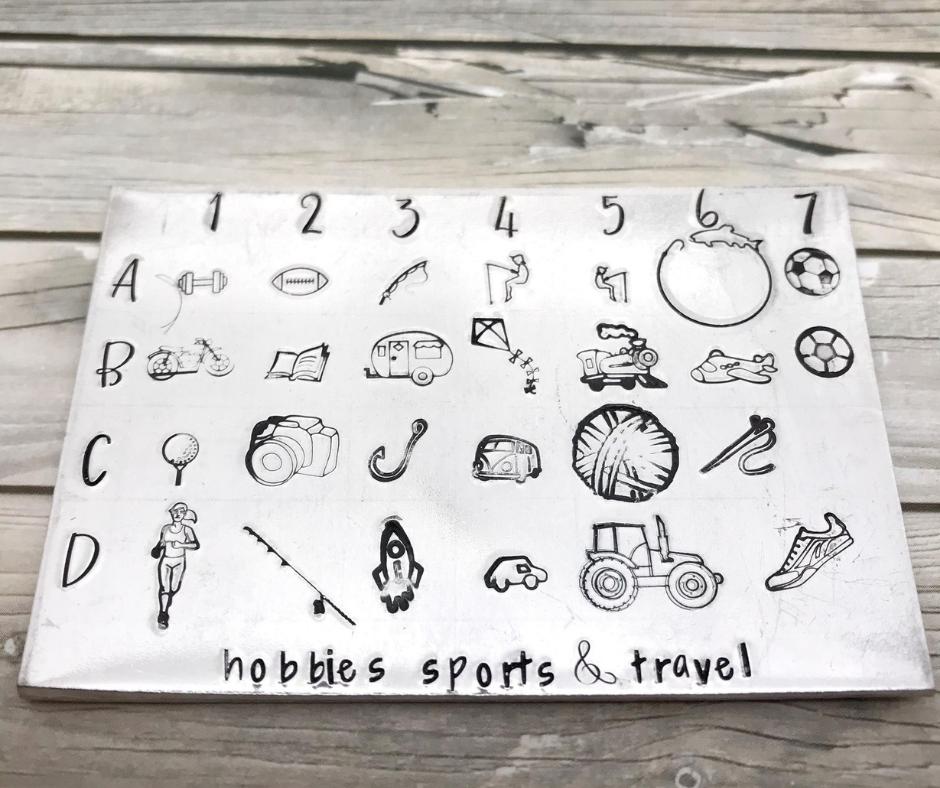 Metal design stamps