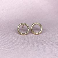 Gold Filled Circle Earrings