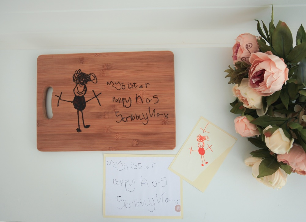 Chopping Board Personalised With Your Child's Drawing/Handwriting