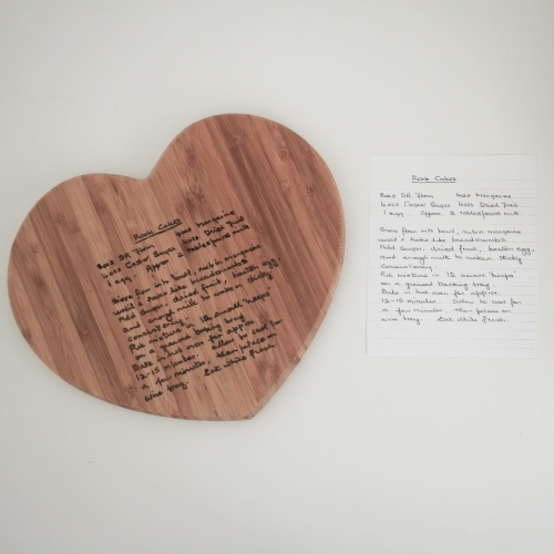 Chopping Board Personalised With Loved One's Handwriting