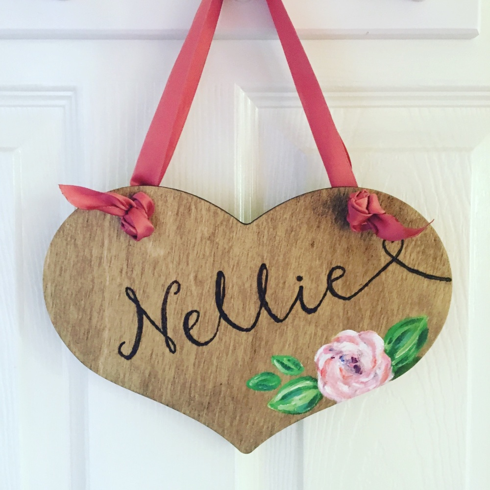Personalised Name Plaque (Heart-Shaped)