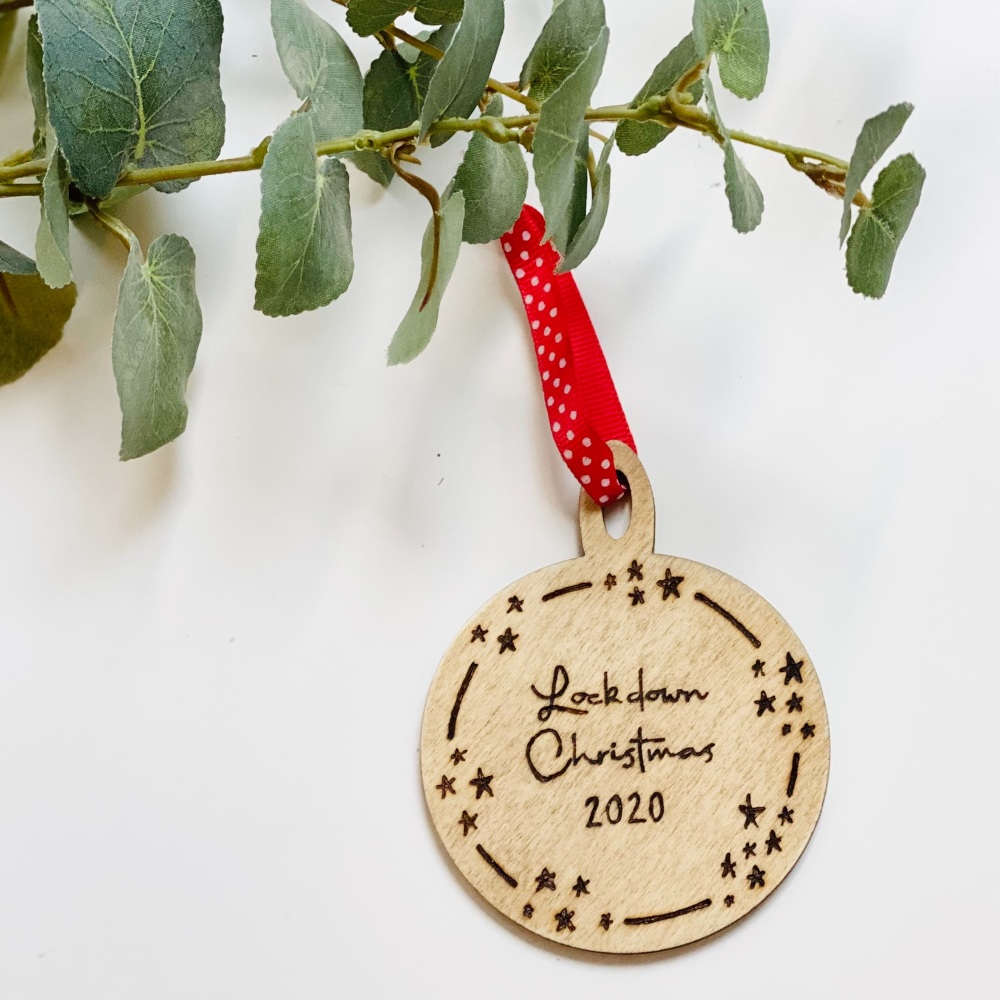 Personalised Lockdown 2020 Christmas Bauble