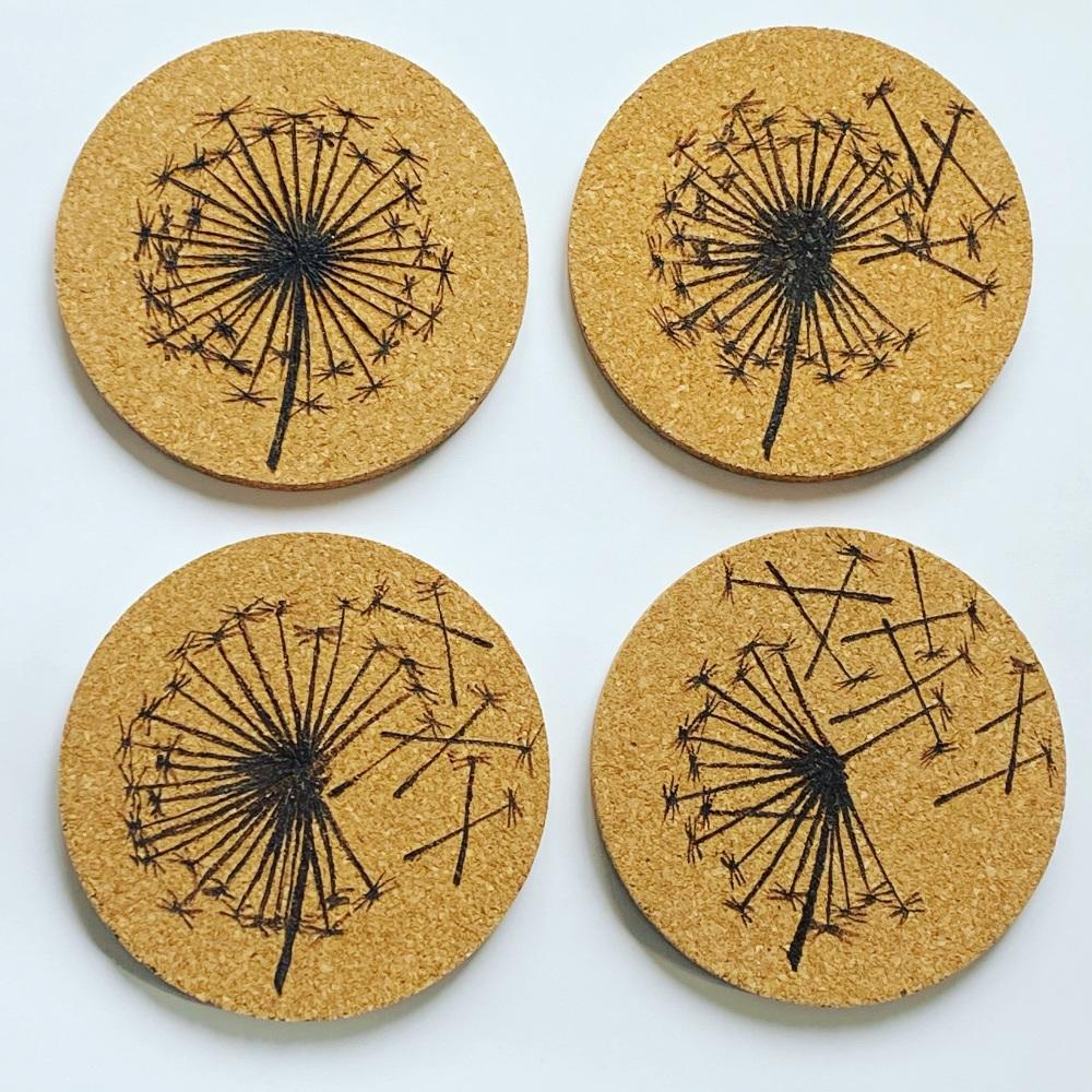 Dandelion Clock Coasters