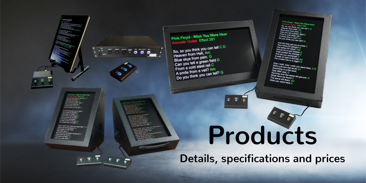Teleprompter Products for Singers