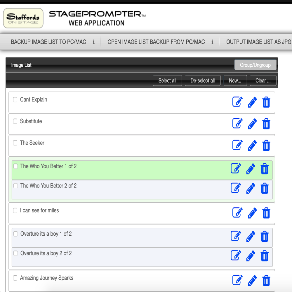 Stageprompter Assistant - Lyrics Software App