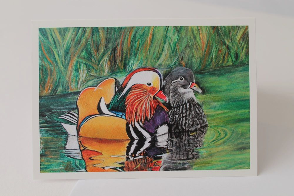 Mandarin Ducks Greeting Card
