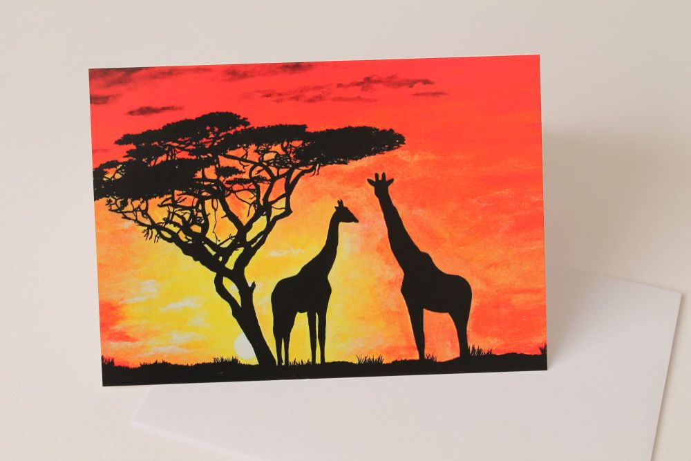 Savannah Sunset Greeting Card