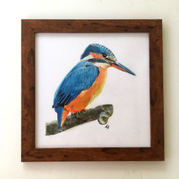 Kingfisher Framed Painting