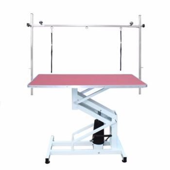 PRE-ORDER Hydraulic Dog Grooming Table - Pink