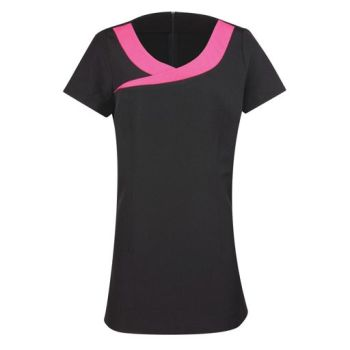 Black Dog Grooming Tunic with Pink Detail