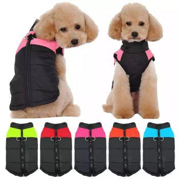 Black Waterproof Dog Coats Size Large 4 Qty