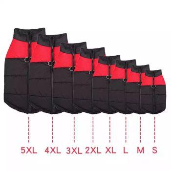 Black Waterproof Dog Coats Size X-Large 4 Qty