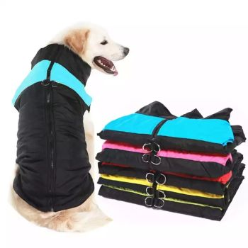 Black Waterproof Dog Coats Size XXX-Large 4 Qty
