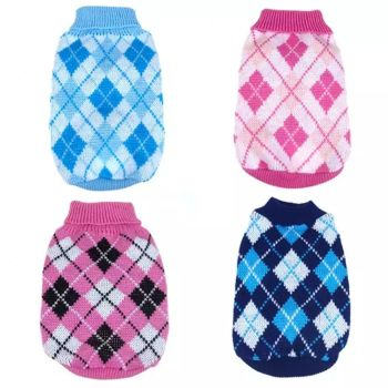 Dog Jumpers - 4 Designs - 1 x Every size - 24 garments in total