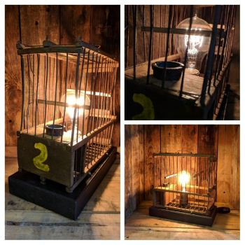 Bird cage lamp No 2