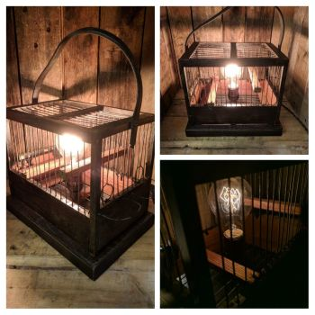 Bird cage lamp No 3