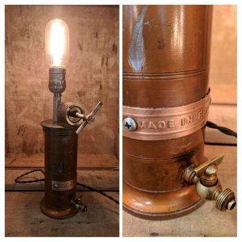 French Copper Lamp