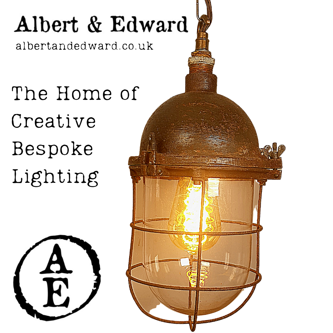 Industrial hanging cage lamp